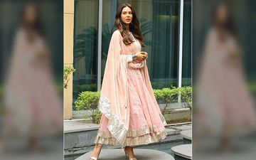 Sonam Bajwa Is Slaying The Peach Coloured Anarkali