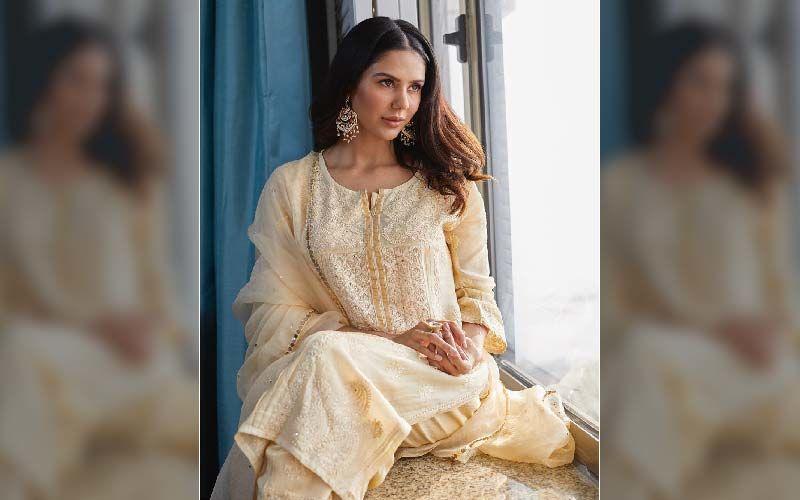 Sonam Bajwa Looks Beautiful In Cream Coloured Salwar Suit