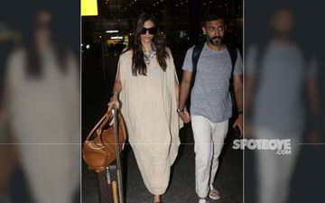 Sonam Kapoor-Anand Ahuja Return A Happy Bunch From Maldives, Get Papped At The Airport