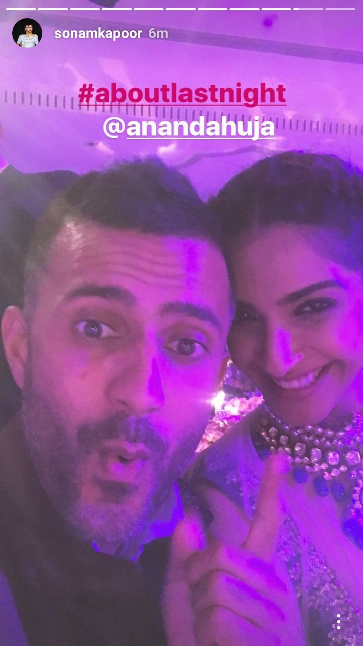sonam kapoor and anand ahuja at the wedding
