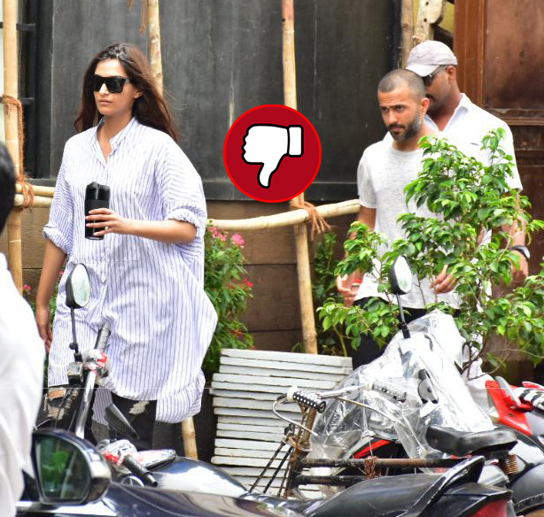 sonam kapoor and anand ahuja snapped in bandra
