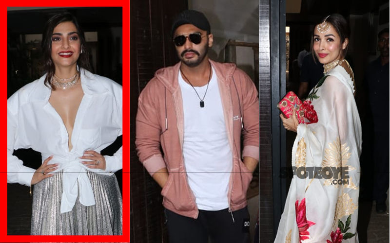 Sonam Kapoor's Birthday Party: Malaika Arora Arrives In A Saree While Beau Arjun Keeps It Casual