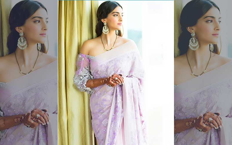 #SareeTwitter Challenge: Fashionista Sonam Kapoor Jumps In, Nails The Challenge With A Before And After Twist