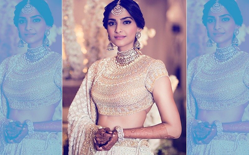 FIRST PIC: Sonam Kapoor Looks Regal At Her Mehendi Ceremony