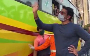 Sonu Sood Sends Off More Migrants Home; Asks Them To Wear Masks, Says 'Wapas Aana Zaroor'-  VIDEO