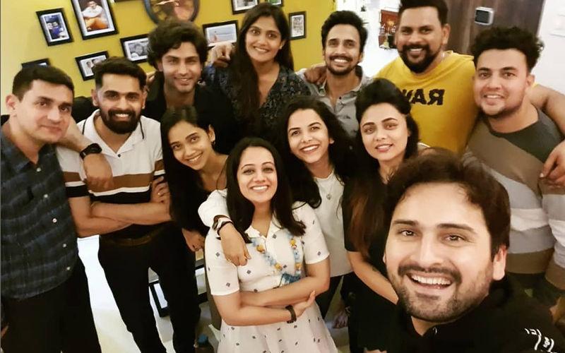 Spruha Joshi, Siddharth Chandekar, Mitali Mayekar, Isha Keskar, Rishi Saxena And More At Bhushan Pradhan's House Party