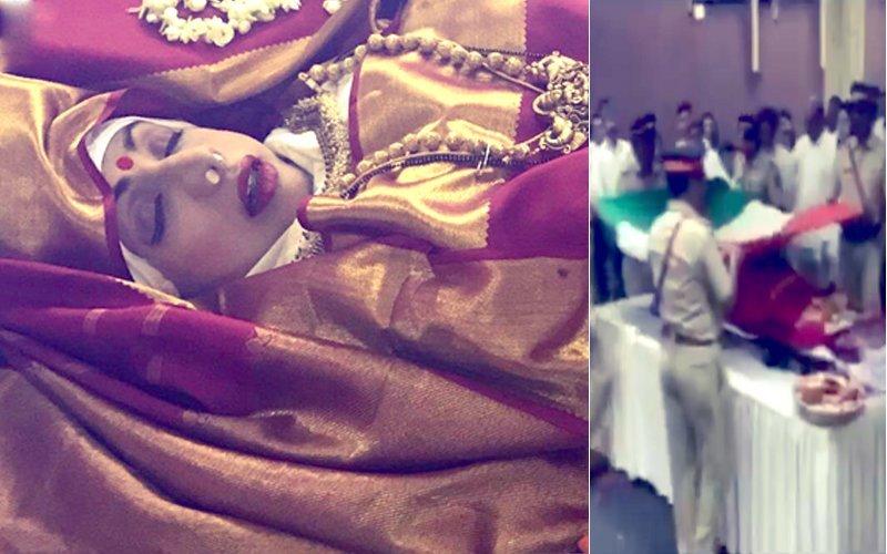 Watch: तिरंगे में लिपटे श्रीदेवी के शव को दिया गया राजकीय सम्मान