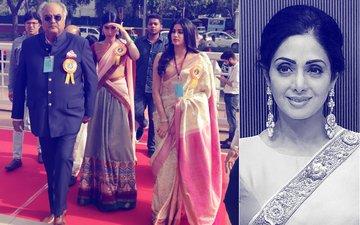 Emotional Moment For The Kapoors: Boney, Janhvi & Khushi Collect Sridevi's National Award