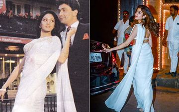 Janhvi Kapoor Takes Inspiration From Sridevi's Chandani Look; Actor Is a Spitting Image Of Her Mom In A White Saree