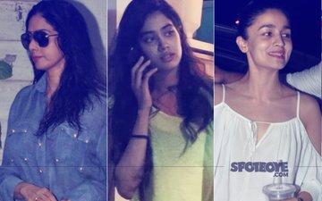 See Pics: Sridevi & Jhanvi Kapoor Go On A Salon Date, Alia Bhatt Enjoys Some 'Me' Time