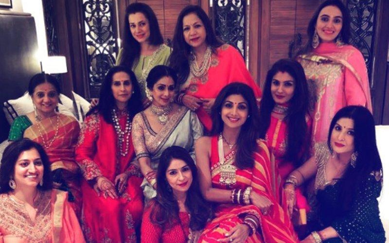 SEE PICS: Sridevi, Shilpa Shetty, Raveena Tandon & Neelam Look Gorgeous In Their Karva Chauth Finery