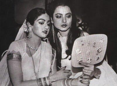 sridevi with rekha