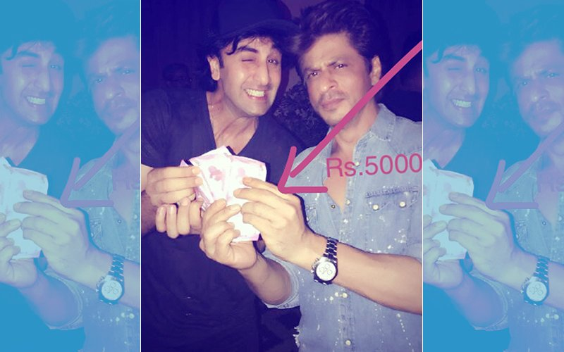 Shah Rukh Khan Pays Rs 5000 To Ranbir Kapoor, Says 'Jagga Jasoos We Are Quits Now'