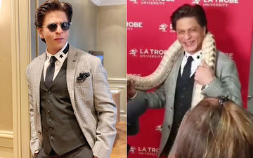 Watch Shah Rukh Khan's Hilarious Reaction When A Snake Is Put Around His Neck And The Coordinator Says 'See You Later'