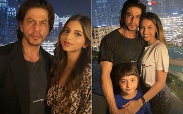 INSIDE Shah Rukh Khan's Birthday Celebrations With Suhana Khan, AbRam, Karan Johar In Dubai; SRK And His Kids Pose Against Burj Khalifa- PICS AND VIDEOS