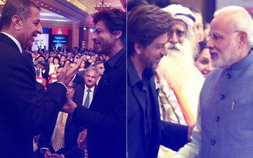 Shah Rukh Khan Meets PM Narendra Modi & Donald Trump Jr At The Global Business Summit 2018 – View Pics