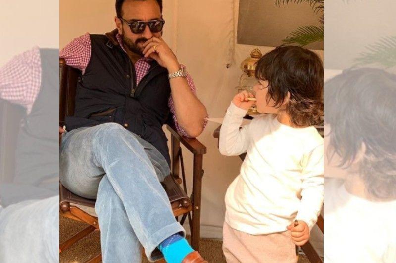Taimur Ali Khan Enjoys A Farming Session With Daddy Saif Ali Khan In Pataudi; What Fun! PICS INSIDE