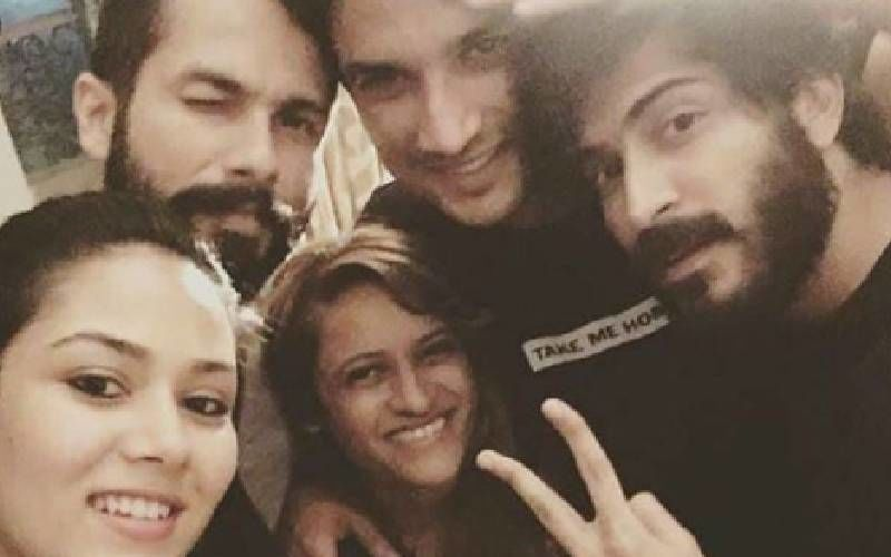 A Month Since Sushant Singh Rajput's Death, Here's A Throwback To His Happy Times With Shahid Kapoor And Mira Rajput