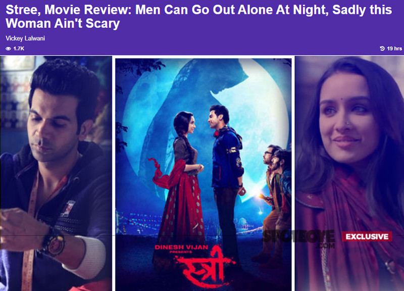 stree movie review by vickey lalwani