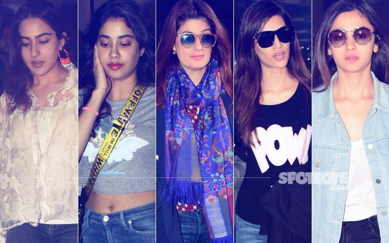 STUNNER OR BUMMER: Sara Ali Khan, Janhvi Kapoor, Twinkle Khanna, Kriti Sanon Or Alia Bhatt?
