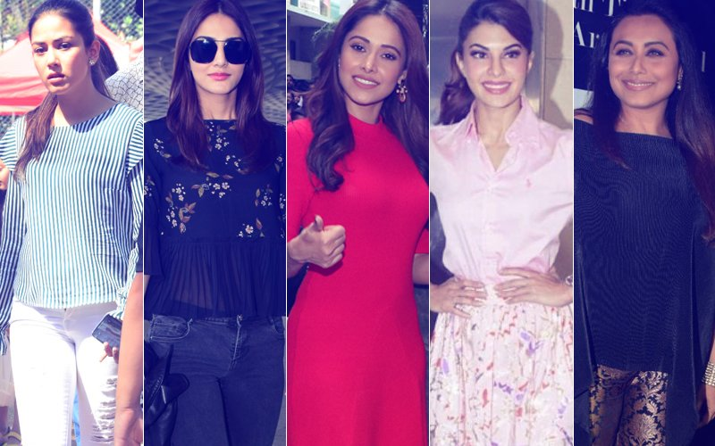 STUNNER OR BUMMER: Mira Rajput, Vaani Kapoor, Nushrat Bharucha, Jacqueline Fernandez Or Rani Mukerji?