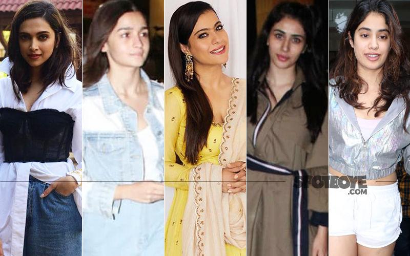 STUNNER OR BUMMER: Deepika Padukone, Alia Bhatt, Kajol, Warina Hussain Or Janhvi Kapoor?
