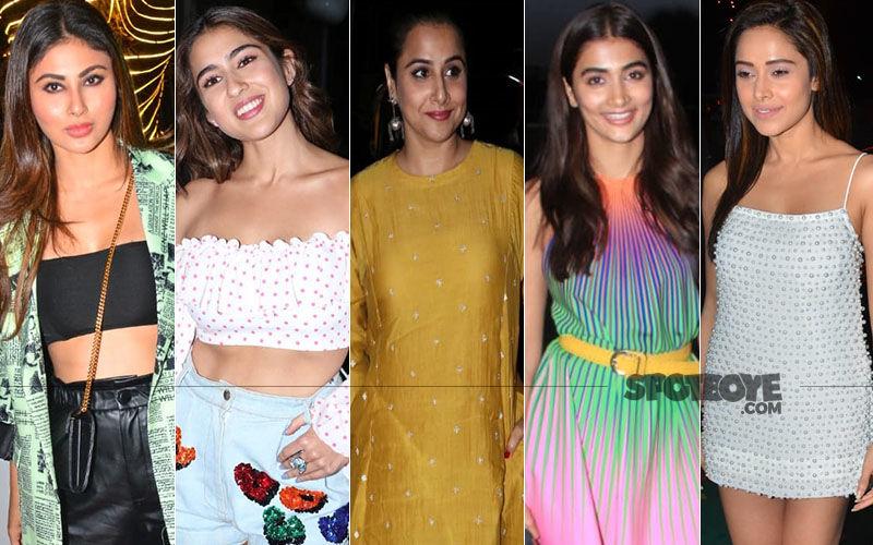 STUNNER OR BUMMER: Mouni Roy, Sara Ali Khan, Vidya Balan, Pooja Hegde Or Nushrat Bharucha?