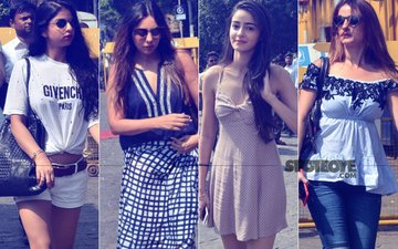 LATEST PICS: Suhana, Gauri, Ananya, Sussanne Leave For Shah Rukh Khan's 52nd  Birthday Bash At Alibaug