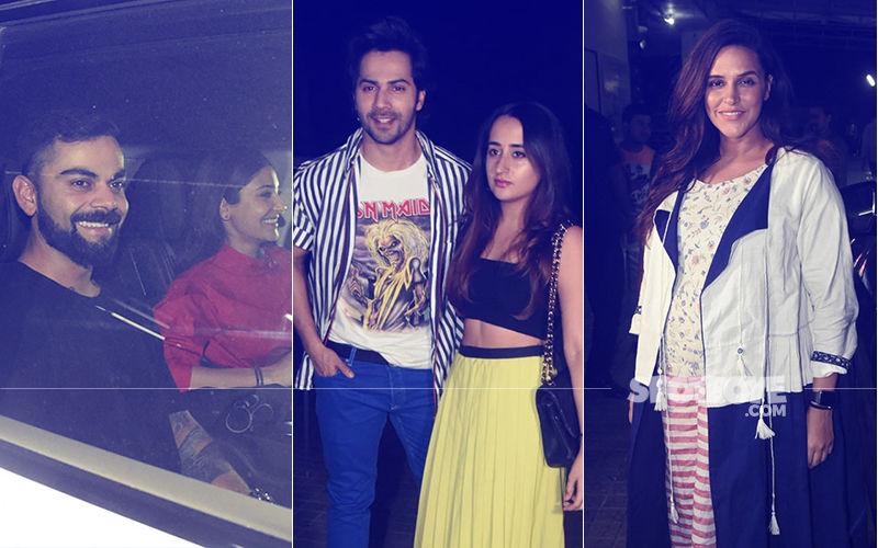Sui Dhaaga Screening: Anushka Sharma-Virat Kohli, Varun Dhawan-Natasha Dalal, Neha Dhupia Watch The Film