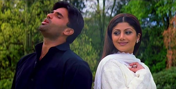 suniel shetty and shilpa shetty in dhadkan