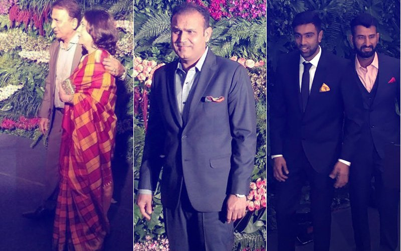 VIRAT-ANUSHKA MUMBAI RECEPTION: Gavaskar, Sehwag, Pujara, Bumrah & Ashwin Arrive At The Bash