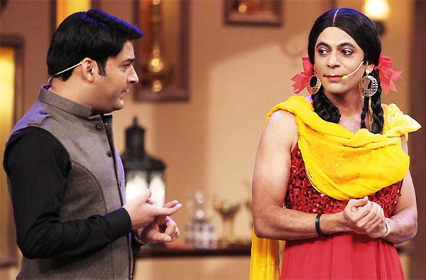 sunil grover and kapil sharma in the comedy nights with kapil