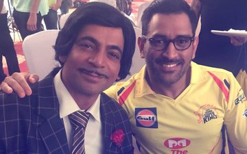 Sunil Grover Shoots With MS Dhoni For The Promo Of His Cricket Show