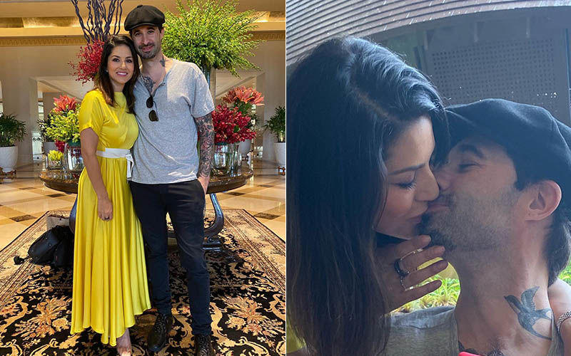 Sunny Leone Plants A Passionate Kiss On Husband Daniel Weber's Lips