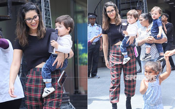 Sunny Leone Is A Hands On Mommy For Her Kids And These Pictures Are A Proof