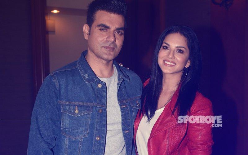 Sunny Leone & Arbaaz Khan Promote  Upcoming Film Tera Intezaar