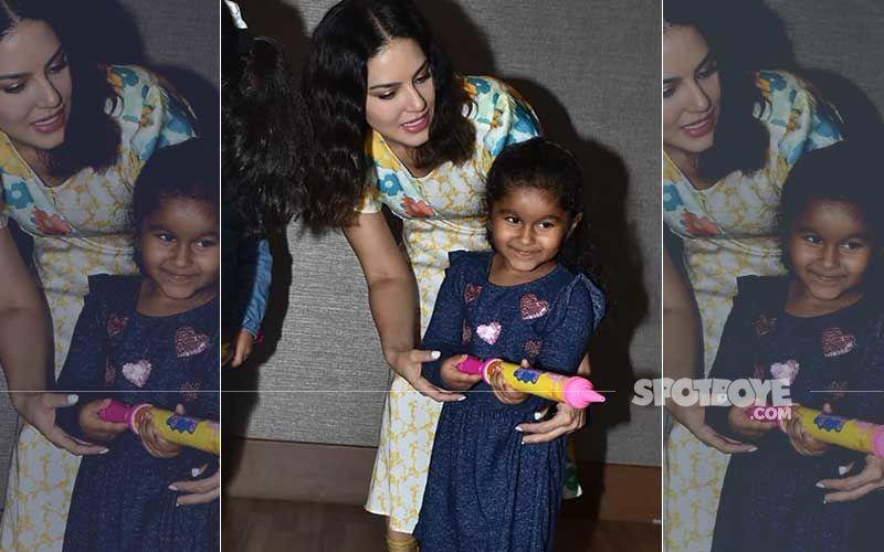 Sunny Leone's Early Holi Celebration With Baby Girl Nisha; LO Splashes Water With A Pichkaari - Viral Pics