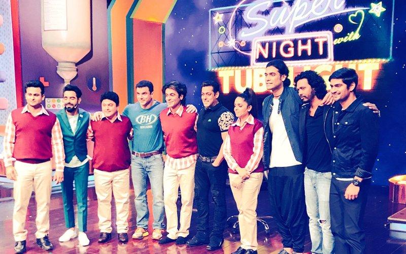 FIRST LOOK: Salman Khan & Sohail Khan Shoot With Sunil Grover & Co. For Super Night With Tubelight