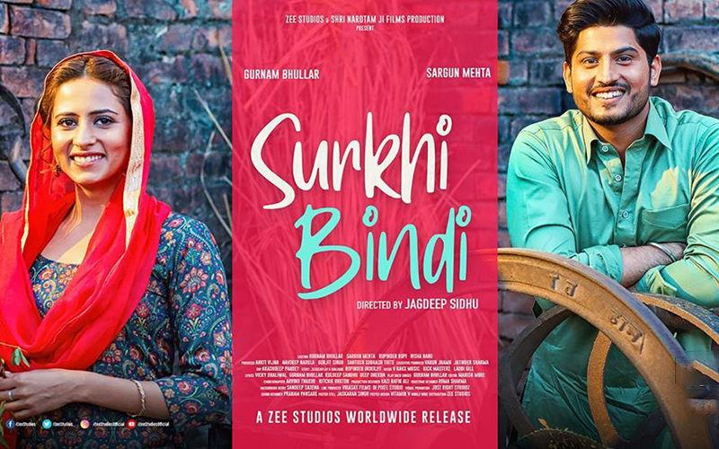 Surkhi Bindi: Jagdeep Sidhu Shares The New Poster Of The Sargun Mehta And Gurnam Bhullar Starrer