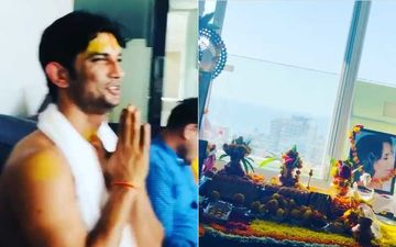 Sushant Singh Rajput Demise: Happy Moments From The Late Actor's 34th Birthday; Sushant And Family Participated In A Pooja At Home - Pics And Videos