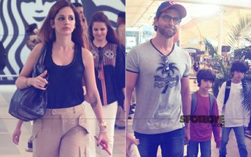 PICS: Hrithik Roshan, Sussanne Khan & Kids Return From Their Goa Vacation