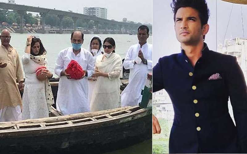 Sushant Singh Rajput Demise: Father And Sisters Bid Teary-Eyed Final Goodbye; Family Immerse Actor's Ashes In Patna- PICS