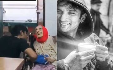 Sushant Singh Rajput Seeking Blessings From An Elderly Woman At An Old Age Home Shows The Late Actor's Sensitive And Sweet Side - VIDEO