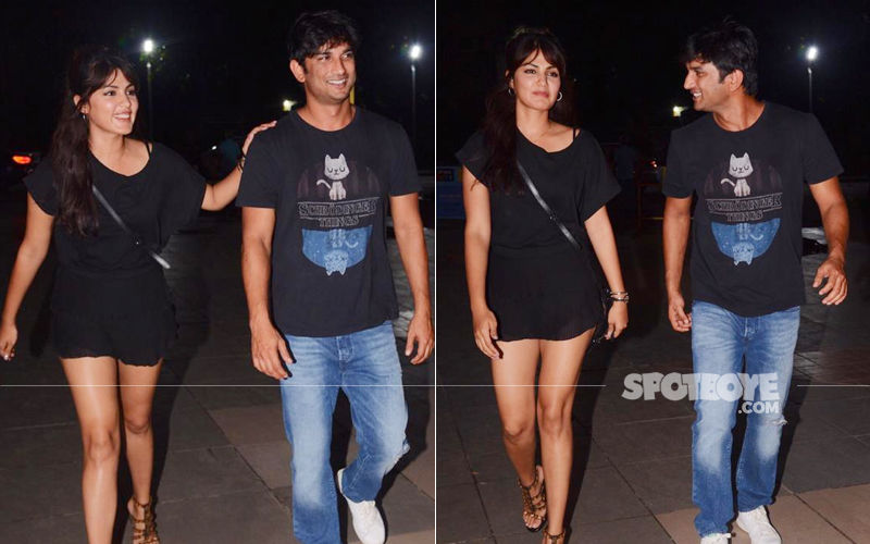 Sushant Singh Rajput And Rhea Chakraborty Get Snapped As They Head Out After Partying Together