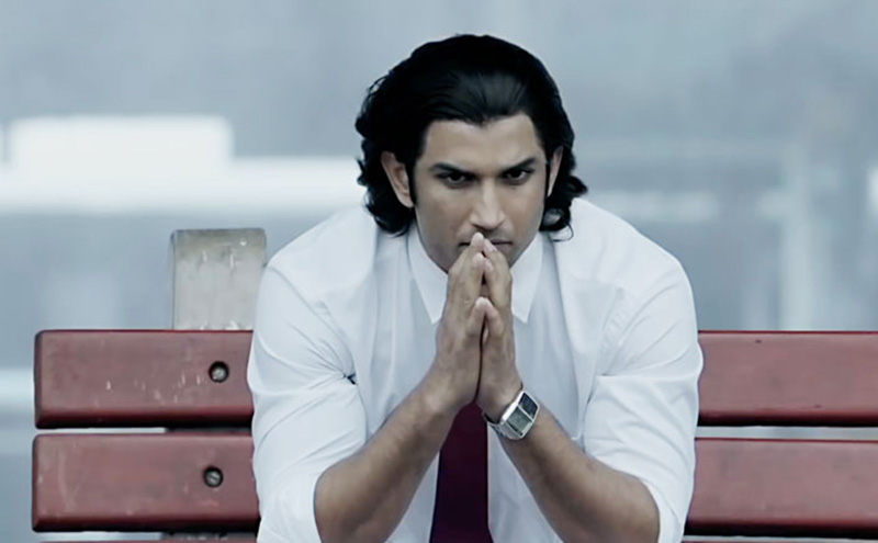 sushant singh rajput as mahendra singh dhoni in ms dhoni the untold story