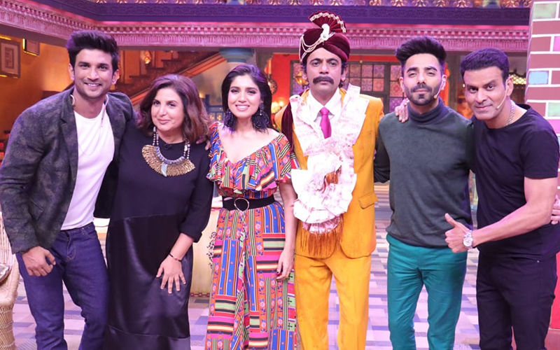 Sushant Singh Rajput, Bhumi Pednekar Get Totally Entertained By Sunil Grover On Kanpur Wale Khuranas