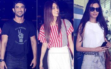 SPOTTED: Sushant Singh Rajput, Kriti Sanon, Diana Penty And Many More At The Airport