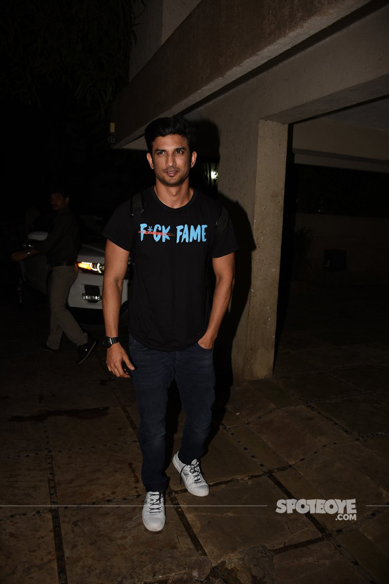 sushant singh rajput snapped at bandra for script reading