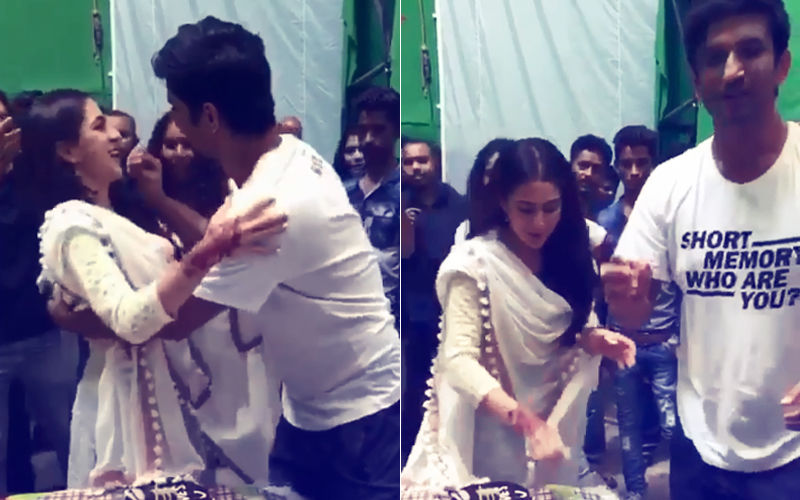 Video: Sushant Singh Rajput & Sara Ali Khan Are Celebrating Something...