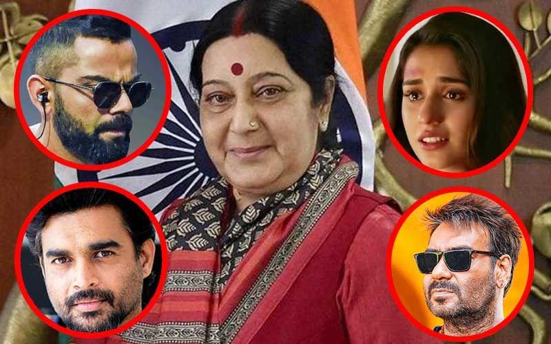 Sushma Swaraj Passes Away: Virat Kohli, Ajay Devgn, Disha Patani, R Madhavan Mourn; PM Narendra Modi Gets Emotional